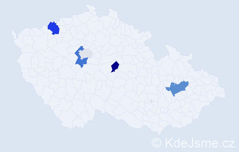 Příjmení: 'Chládeková', počet výskytů 8 v celé ČR