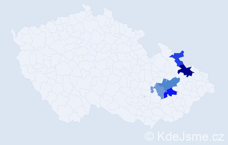Příjmení: 'Isakidisová', počet výskytů 9 v celé ČR