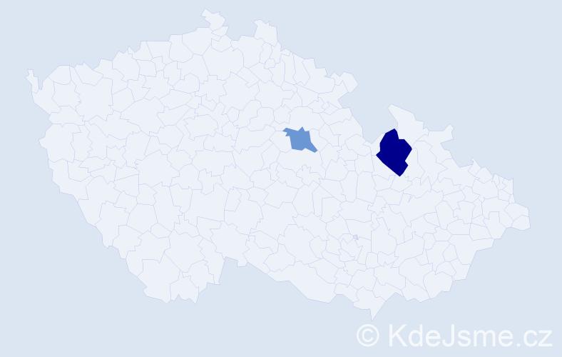 Příjmení: 'Baksevanis', počet výskytů 3 v celé ČR