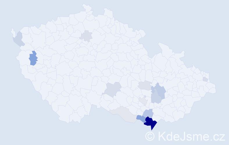 Příjmení: 'Florusová', počet výskytů 53 v celé ČR