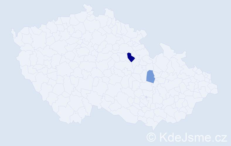 Příjmení: 'Kaplavka', počet výskytů 3 v celé ČR