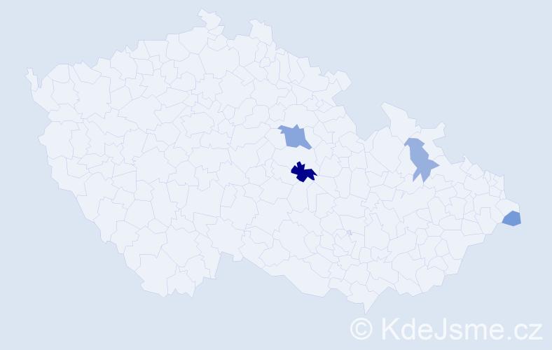 Příjmení: 'Baffiová', počet výskytů 8 v celé ČR