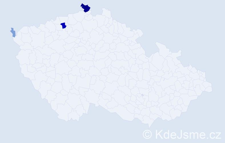 Příjmení: 'Cimrt', počet výskytů 12 v celé ČR