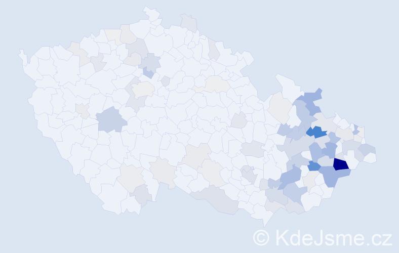 Příjmení: 'Bolfová', počet výskytů 272 v celé ČR