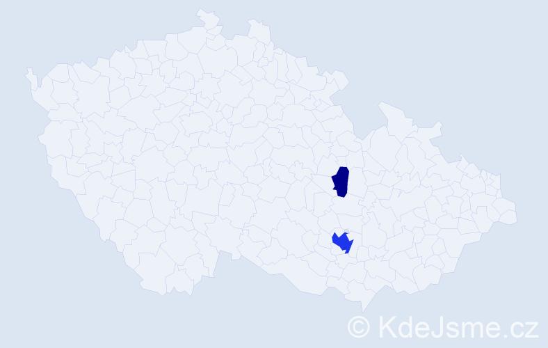 Příjmení: 'Chlebda', počet výskytů 6 v celé ČR