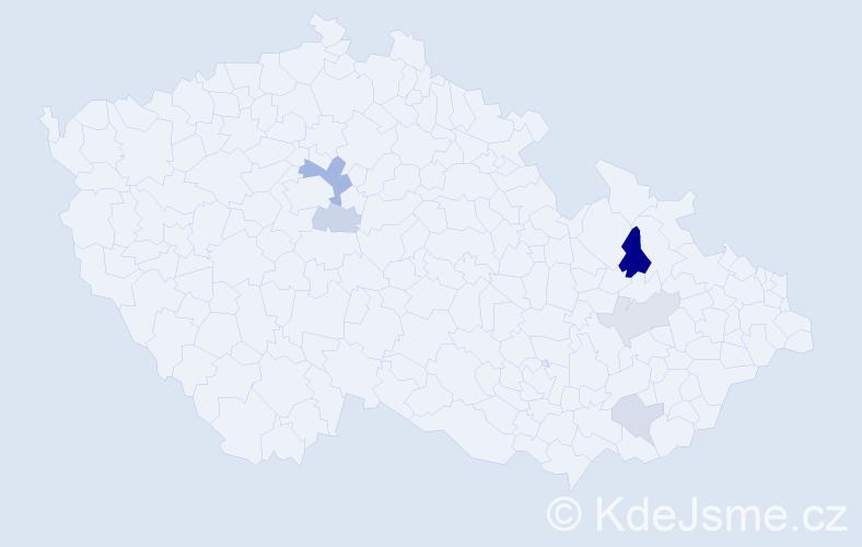Příjmení: 'Egidová', počet výskytů 10 v celé ČR