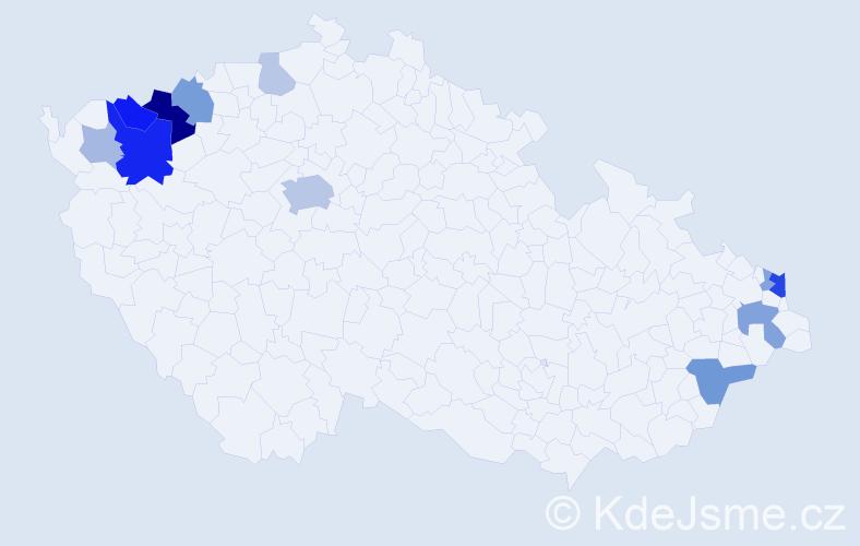 Příjmení: 'Lanzendörferová', počet výskytů 31 v celé ČR