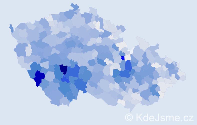 Příjmení: 'Kolář', počet výskytů 8377 v celé ČR