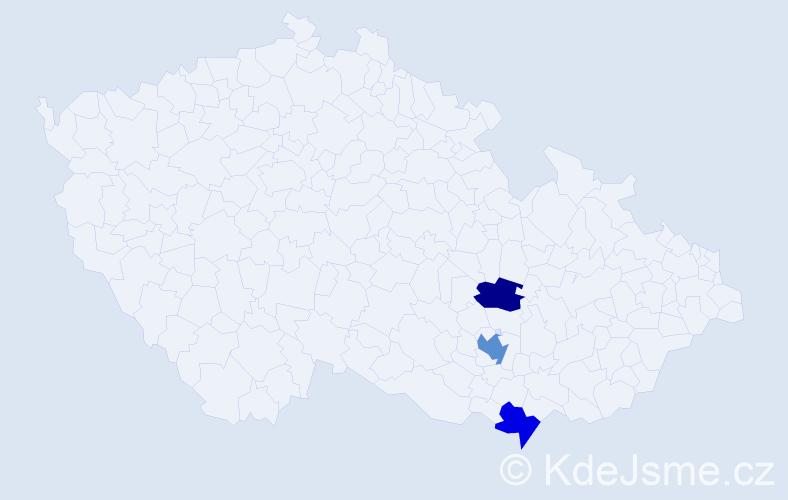 Příjmení: 'Filipinská', počet výskytů 4 v celé ČR