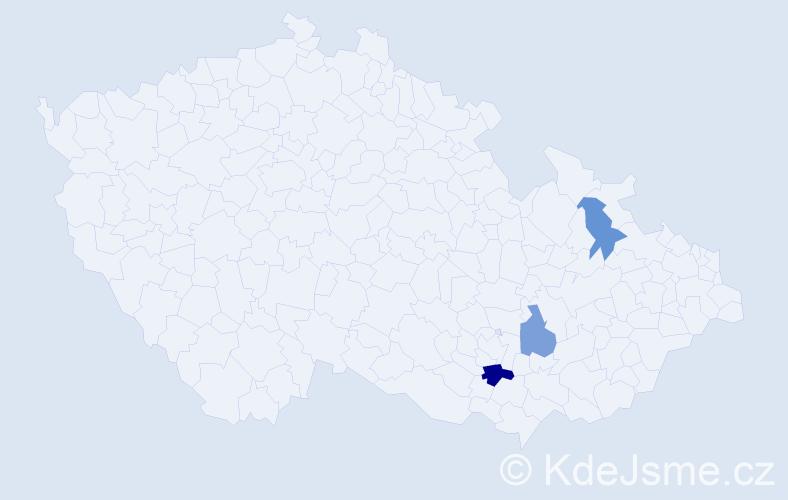 Příjmení: 'Kaderiaková', počet výskytů 4 v celé ČR