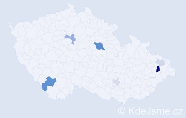 Příjmení: 'Elliott', počet výskytů 10 v celé ČR