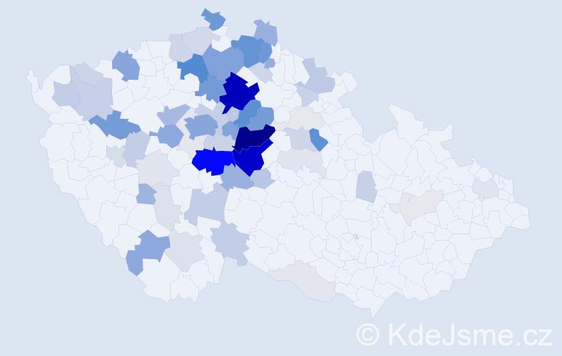 Příjmení: 'Drahotová', počet výskytů 319 v celé ČR