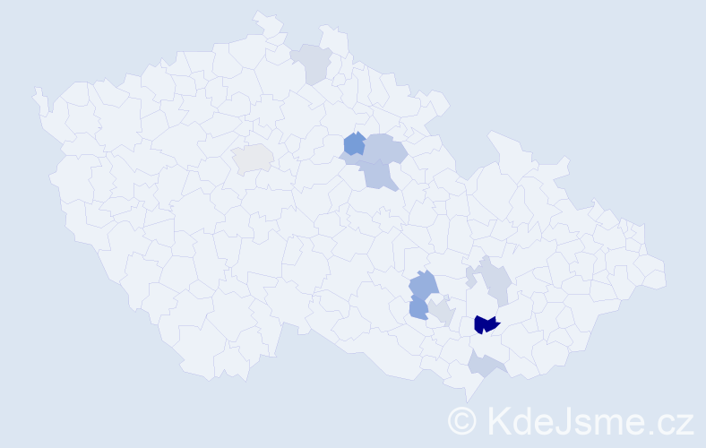 Příjmení: 'Čadík', počet výskytů 17 v celé ČR