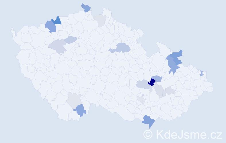 Příjmení: 'Barkociová', počet výskytů 39 v celé ČR