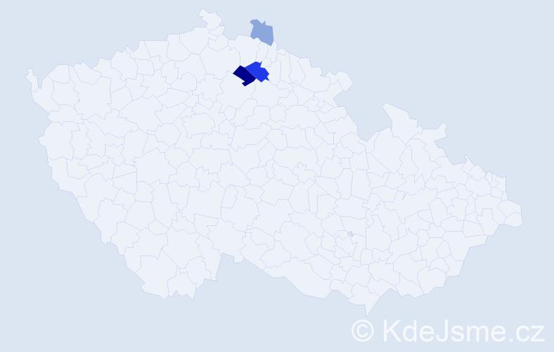 Příjmení: 'Féna', počet výskytů 8 v celé ČR