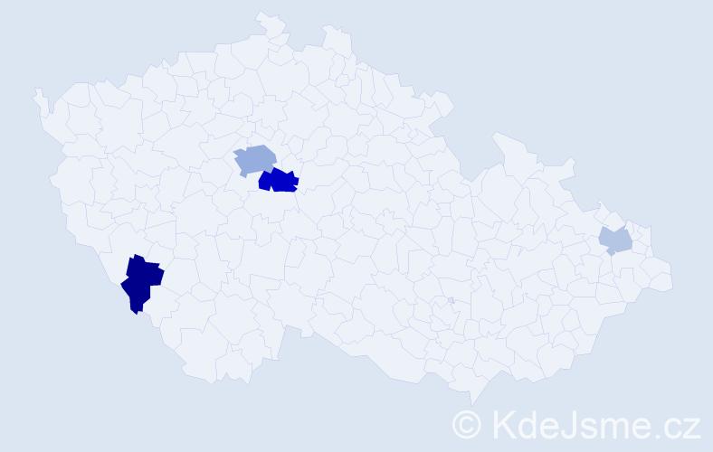 Příjmení: 'Cirková', počet výskytů 9 v celé ČR