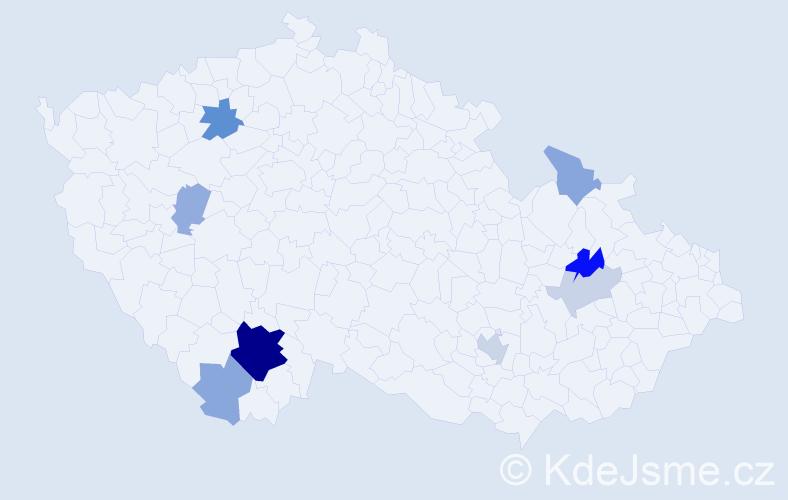 Příjmení: 'Edelmanová', počet výskytů 22 v celé ČR