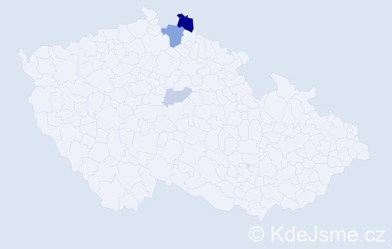 Příjmení: 'Čulaga', počet výskytů 9 v celé ČR