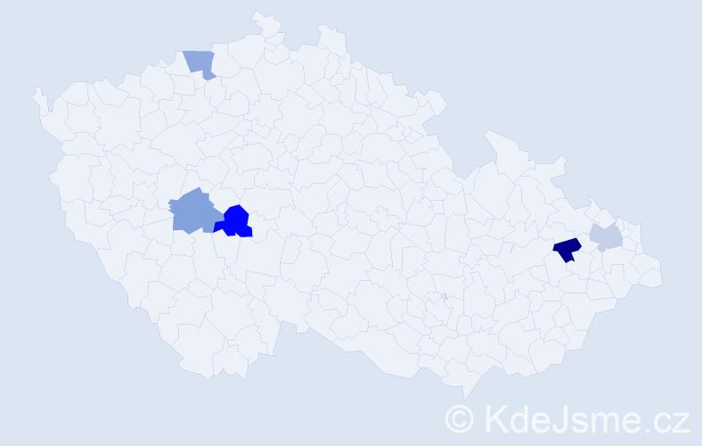Příjmení: 'Fedoruc', počet výskytů 5 v celé ČR