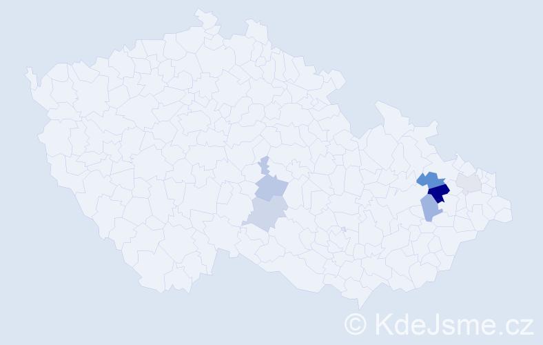 Příjmení: 'Lakuš', počet výskytů 8 v celé ČR