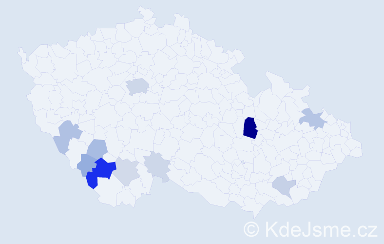 Příjmení: 'Amort', počet výskytů 42 v celé ČR