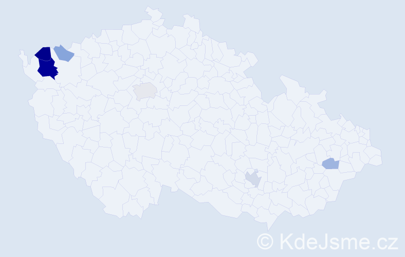 Příjmení: 'Čaková', počet výskytů 18 v celé ČR