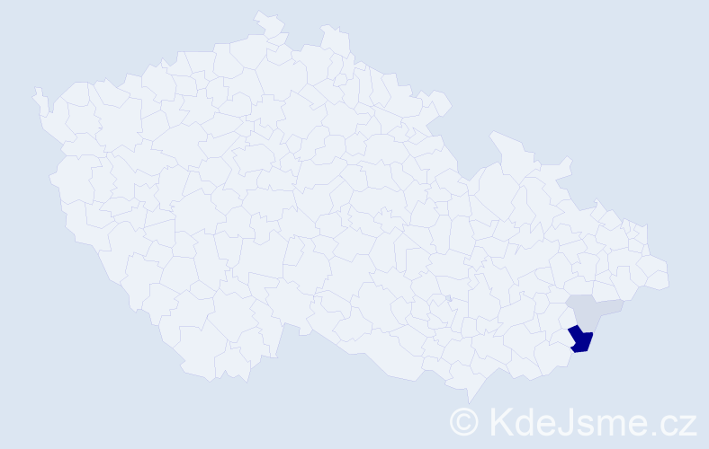 Příjmení: 'Čureček', počet výskytů 14 v celé ČR