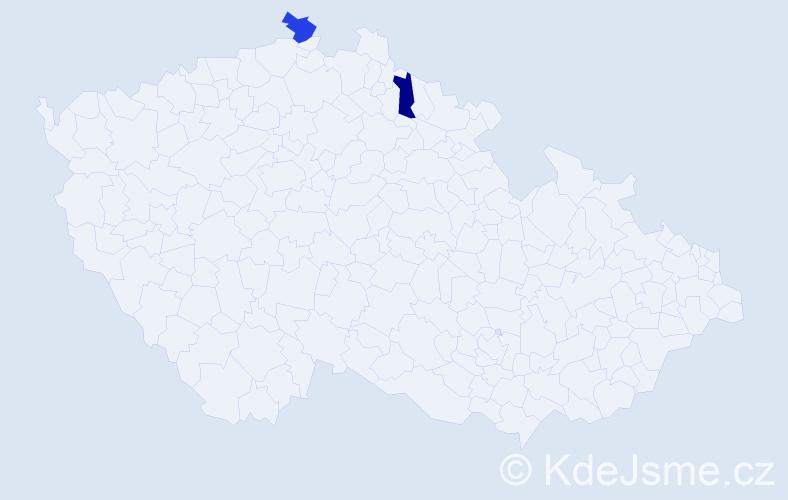 Příjmení: 'Görschel', počet výskytů 2 v celé ČR