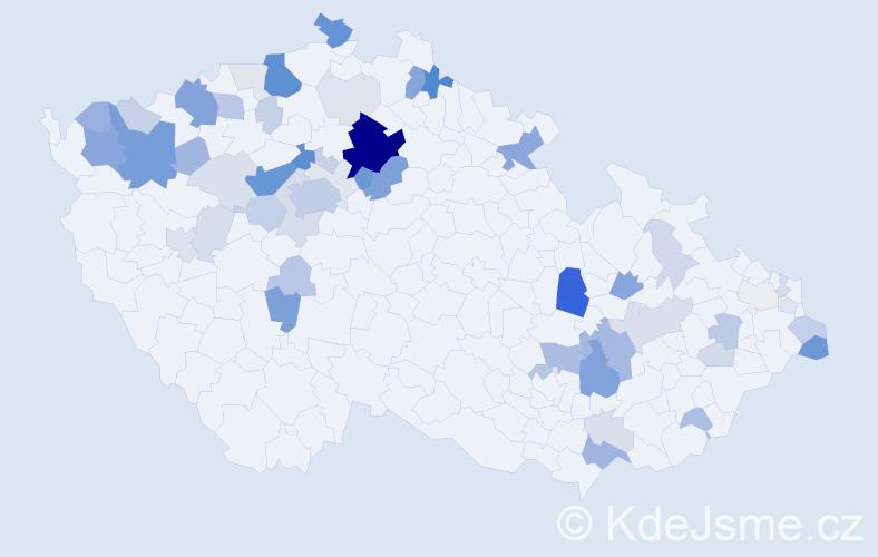 Příjmení: 'Fečová', počet výskytů 203 v celé ČR