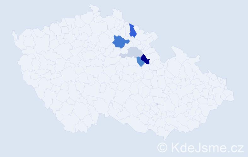 Příjmení: 'Etflaiš', počet výskytů 10 v celé ČR