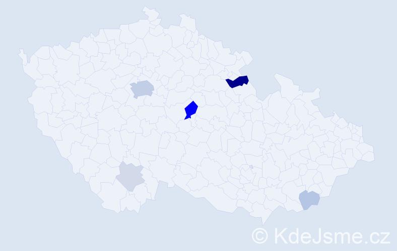 Příjmení: 'Cunningham', počet výskytů 18 v celé ČR