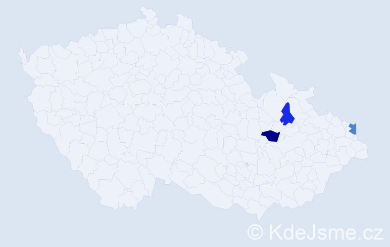 Příjmení: 'Kolpák', počet výskytů 6 v celé ČR