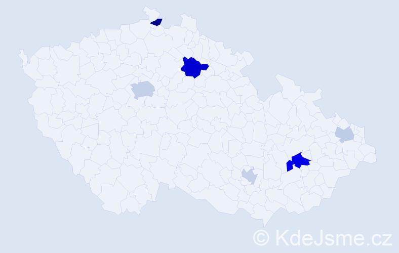 Příjmení: 'Almássy', počet výskytů 11 v celé ČR