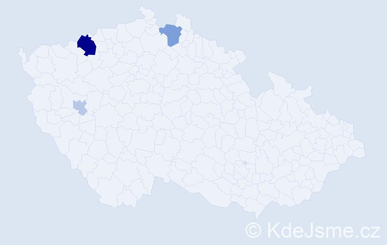 Příjmení: 'Badičová', počet výskytů 8 v celé ČR