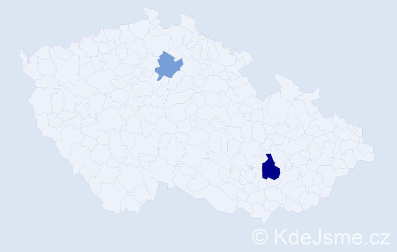 Příjmení: 'Dlhoš', počet výskytů 3 v celé ČR