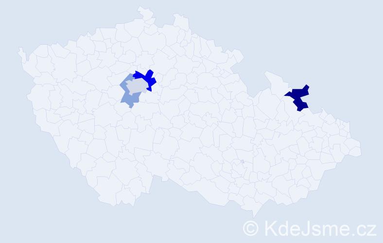 Příjmení: 'Andreatta', počet výskytů 8 v celé ČR