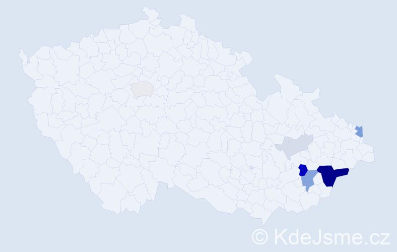 Příjmení: 'Grycman', počet výskytů 22 v celé ČR