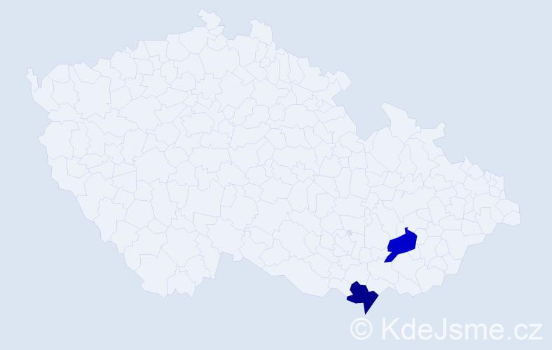 Příjmení: 'Klammert', počet výskytů 10 v celé ČR