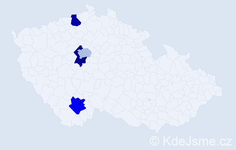 Příjmení: 'Davidenko', počet výskytů 4 v celé ČR