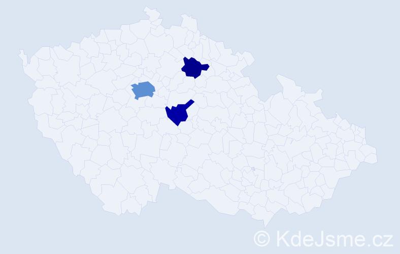 Příjmení: 'Endrisová', počet výskytů 8 v celé ČR
