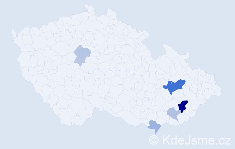 Příjmení: 'Bačuvčíková', počet výskytů 25 v celé ČR