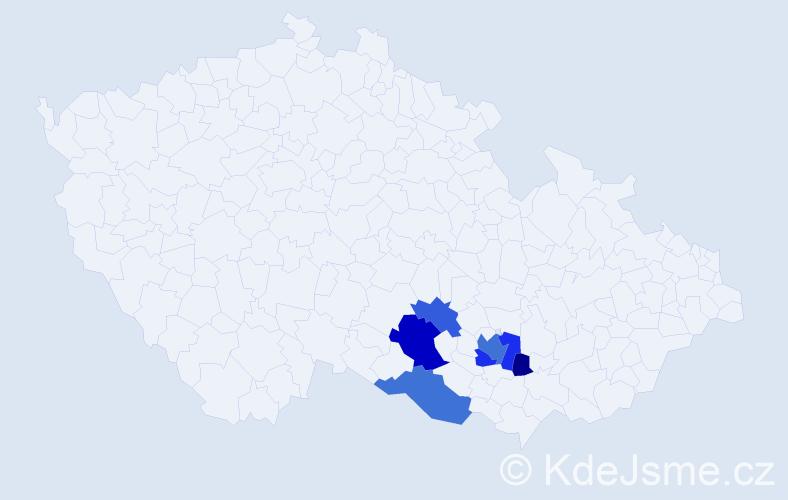 Příjmení: 'Kobský', počet výskytů 15 v celé ČR