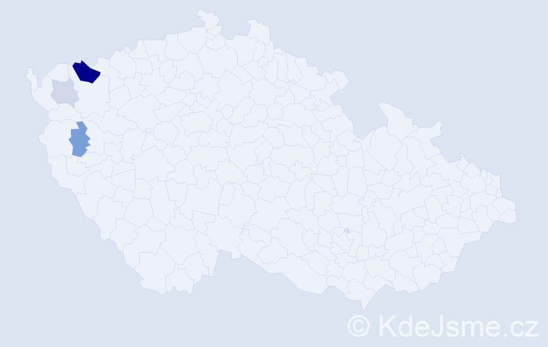 Příjmení: 'Keilhauer', počet výskytů 8 v celé ČR