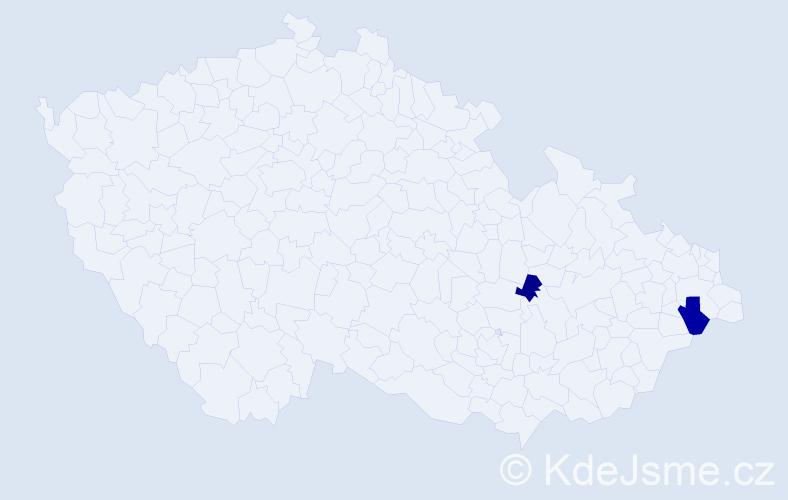 Příjmení: 'Antoniaziová', počet výskytů 3 v celé ČR