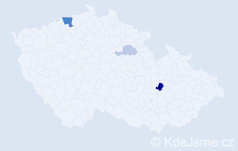 Příjmení: 'Derkač', počet výskytů 6 v celé ČR