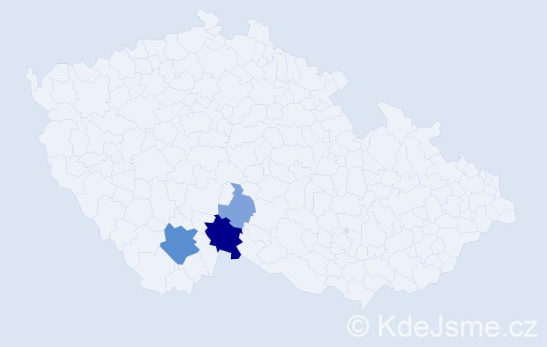 Příjmení: 'Čizmadia', počet výskytů 9 v celé ČR