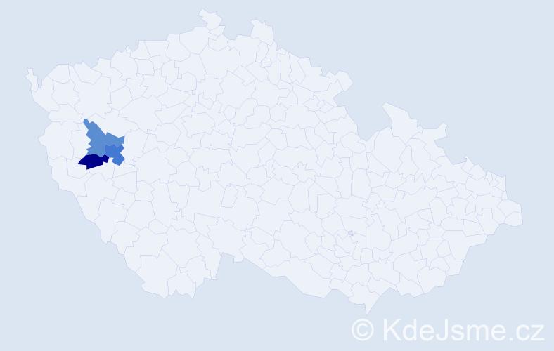 Příjmení: 'Buzinkay', počet výskytů 10 v celé ČR