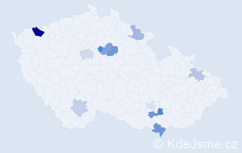Příjmení: 'Lehutová', počet výskytů 18 v celé ČR