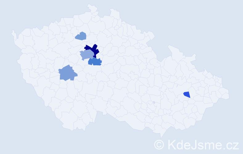 Příjmení: 'Enc', počet výskytů 29 v celé ČR