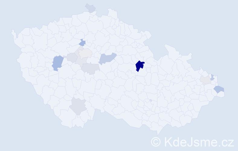 Příjmení: 'Labová', počet výskytů 38 v celé ČR